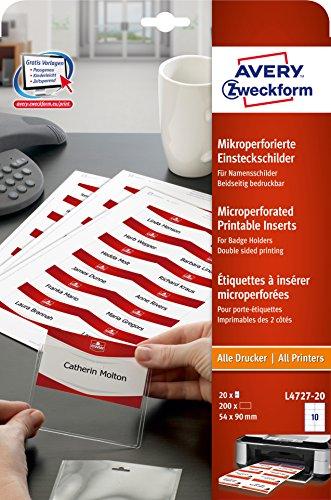 2011 Desk Pad Calendars - Avery Zweckform Pockets Panels 90 x 54 mm White