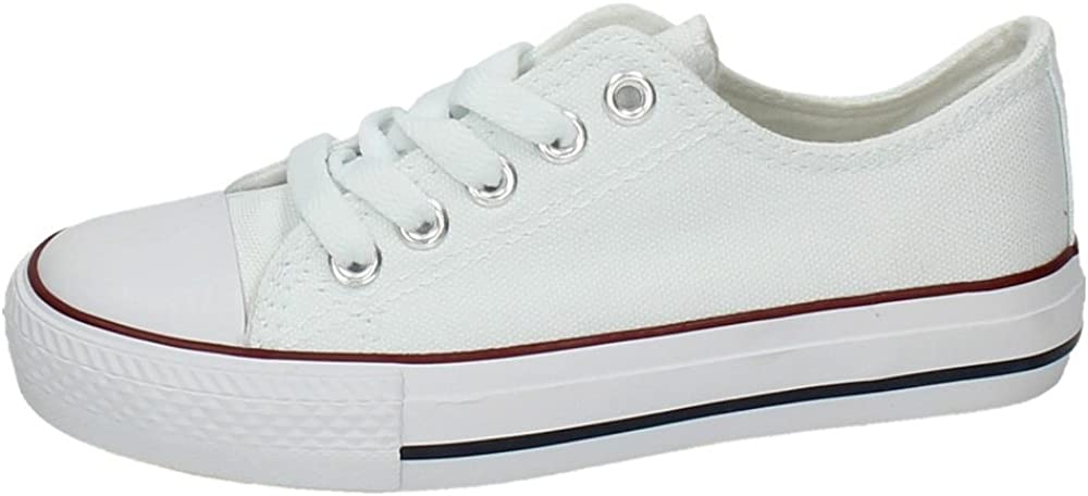 DEMAX 5-A12A Lonas Blancas NIÑA Zapatillas