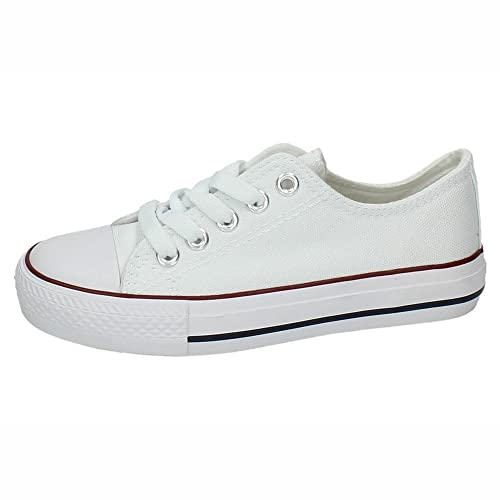 DEMAX 5-A1612A-12 Bambas Lona Blancas NIÑA Zapatillas: Amazon.es: Zapatos y complementos