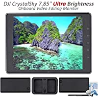 DJI CrystalSky Monitor - 7.85 Ultra Brightness with 2 Batteries, Charging Hub & eDigitalUSA Maintenance Bundle