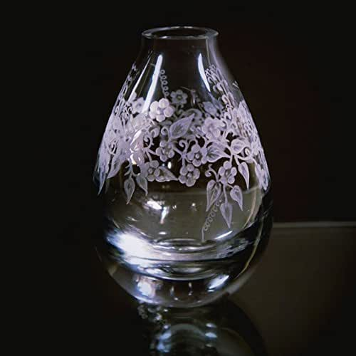 Amazon.com: Hand Engraved Crystal Bud Vase, Flowers, Glass