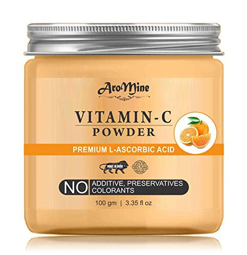 AroMine Natural & Organic Vitamin C Powder for Skin Care, Face Pack, 100gm