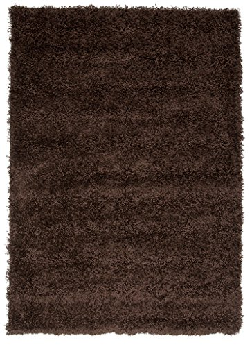 edium Soft Anti Shed Luxury Vibrant Shaggy Area Rugs - 8 Colours & 5 Sizes Available (Brown 2' x 3'7