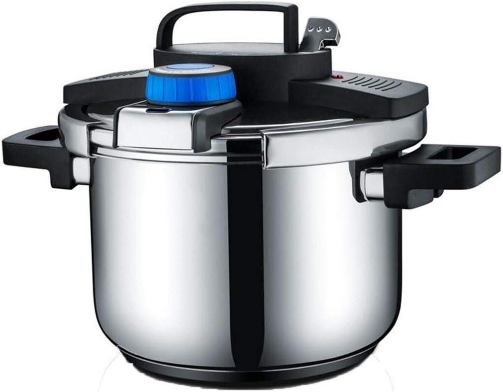 ضغط الطبخ الفولاذ المقاوم للصدأ ضغط الطبخ 5.5L سعة كبيرة غاز موقد الحث الطبخ العالمي الضغط