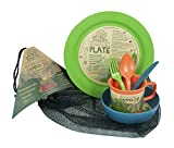 EcoSouLife Biodegradable Camper Set (Plate, Bowl, Cup, Cutlery and Bag)