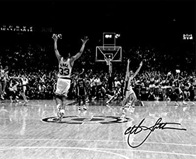 Christian Laettner Signed Duke Blue Devils B&W 'The Shot' Celebration vs Kentucky 8x10 Photo - Autographed College Photos