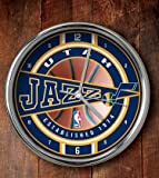 NBA Utah Jazz Official Chrome Clock, Multicolor, One Size