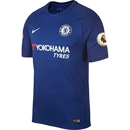 Amazon.com   Chelsea Home Stadium Jersey 2017   2018 + EPL Champions ... d7b74b8db