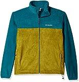 Columbia Men's Cascades Explorer Full Zip Fleece Jacket, Phoenix Blue, Mossy Green, Small