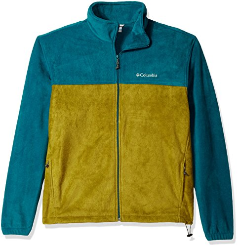 (Columbia Men's Cascades Explorer Full Zip Fleece Jacket, Phoenix Blue, Mossy Green,)