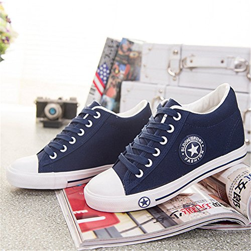 Female Casual Summer Canvas Black White Cute Shoes Stars Basket Shoes Wedges Women Zapatos Sneakers rqRW0qf6