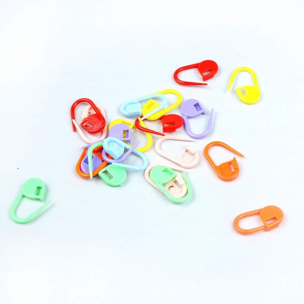 Lyanther 100pcs Knitting Crochet Aghi punto di ancoraggio clip Markers Holder (colori Randon)