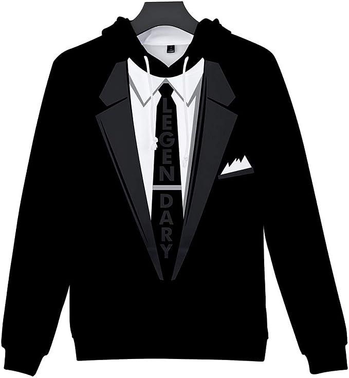 Amazon.com: VOSTE - Sudadera con capucha para hombre, diseño ...