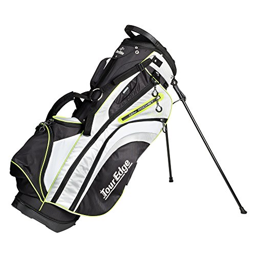 Golf Womens Bag - Tour Edge Womens HL3 Stand Bag in Black Silver Lime Green