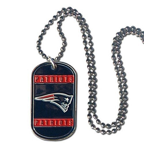 NFL Officially Licensed Dog Tag Necklace (New England - Nfl Dog Tags Patriots