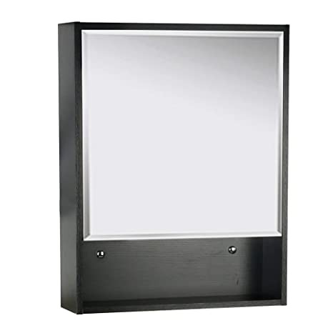 Brilliant U Eway 22X28 Bathroom Medicine Cabinet Organizer With Mirror 3 Height Adjustable Shelf Wall Mounted Surface Black Bathroom Storage Download Free Architecture Designs Scobabritishbridgeorg