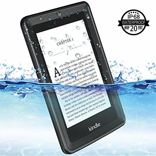 Temdan Kindle Paperwhite Waterproof Case Rugged Sleek Transparent Cover with Built in Screen Protector Waterproof Case for Kindle Paperwhite. by Temdan (Image #1)'