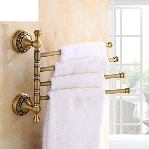 Antique copper towel rack full/Revolving towel rack/Bathroom towel rod/Towel Bar/Double towel hanging-B on sale