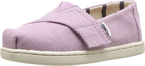 TOMS Kids Baby Girl's Venice Collection Alpargata (Infant/Toddler/Little Kid) Soft Lilac Heritage Canvas 7 M US Toddler