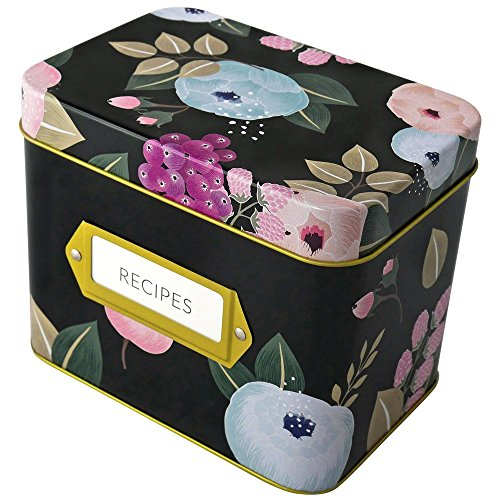 Recipe Box by Polite Society (Black Tin)