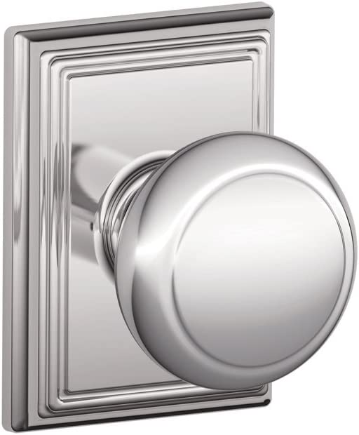 SCHLAGE F10 and 625 ADD F10AND625ADD Addison Collection Andover Passage Knob, Bright Chrome