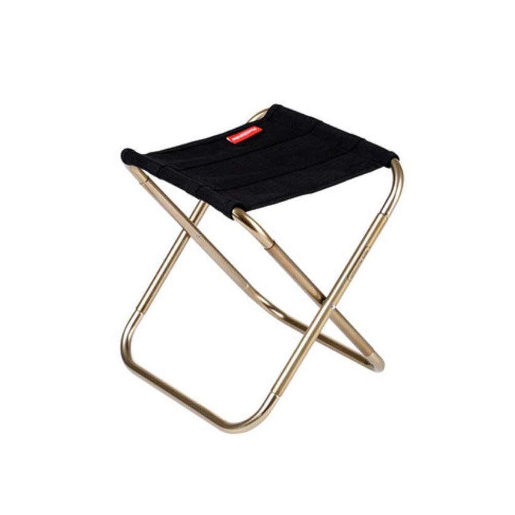 Black FH Ultralight Portable Folding Stool Outdoor Camping Fishing Stool Leisure Beach Art Sketch Chair Small Horse Stool