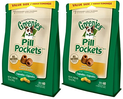 GREENIES Pill Pockets Treats for Dogs 15.8oz Value Packs (2-Pack Chicken)