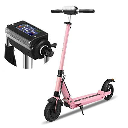 ELLBM KUGOO S1 Scooter eléctrico con Pantalla LCD 3 Modos de Velocidad 350W Motor Impermeable 11KG Plegable Kick Scooter