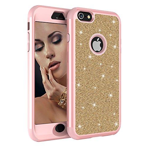 iPhone 6/6S Case, UZER Three Layer Shockproof Luxury Glitter