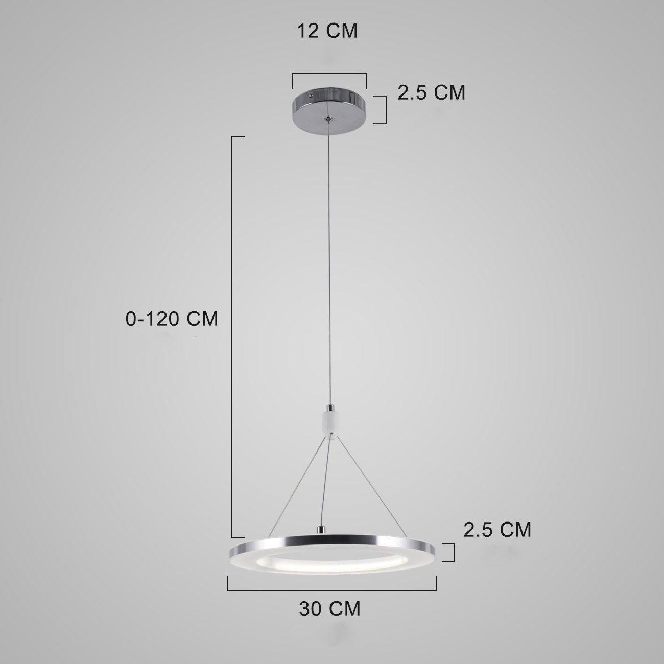 ZMH Moderne LED Pendelleuchte Wohnzimmer esstisch 72W Led 3-Ring led ...