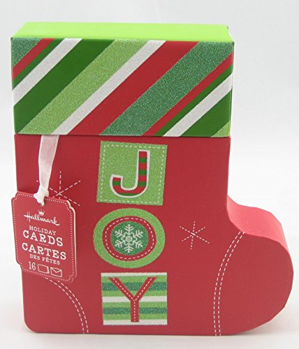 Joy Box (Hallmark Christmas Boxed Cards PX6419 Joy Box Cards in Shaped Stocking Box)