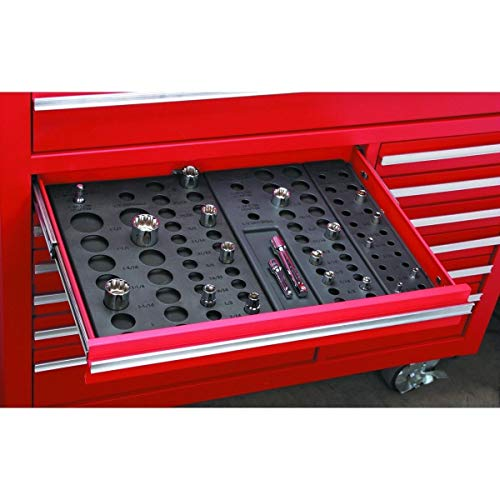 RX-789 Plastic Metric SAE Socket Holder Holding Rack Drawer Organizer for Tool Box Black by RX-789 (Image #1)