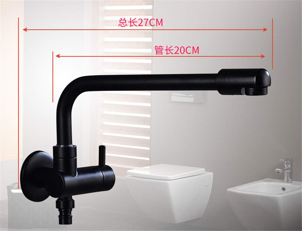 Yuanshuai88-Faucet Copper Body Hot and Cold Water Kitchen Tap Bathroom Sink Mixer Tap