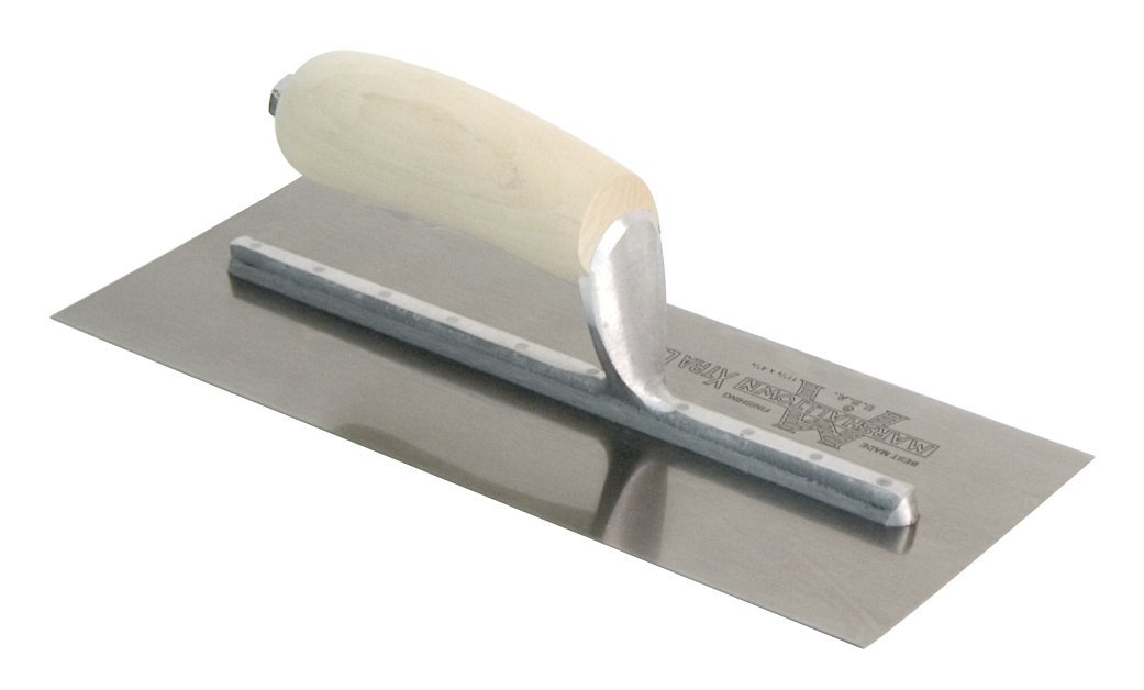 MARSHALLTOWN The Premier Line MXS61 16-Inch by 3-1/2-Inch Finishing Trowel with Curved Wood Handle