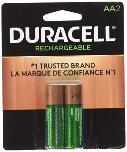 Duracell Rechargeable AA Batteries, 2 Count