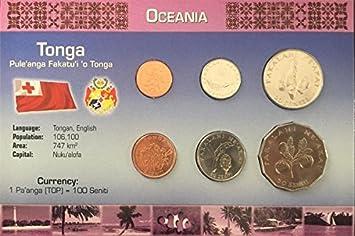 IMPACTO COLECCIONABLES Monedas del Mundo. Tonga, Blister de 6 ...