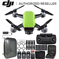 DJI Spark Portable Mini Drone Quadcopter Fly More Combo Hardshell Backpack Ultimate Bundle (Meadow Green)