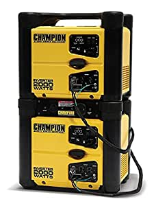 Champion Power Equipment 73536i 2000 Watt Stackable Portable Inverter Generator (Pack of 2)