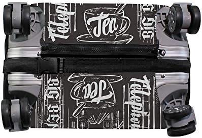 スーツケースカバー ロンドン 伸縮素材 キャリーバッグ お荷物カバ 保護 傷や汚れから守る ジッパー 水洗える 旅行 出張 S/M/L/XLサイズ