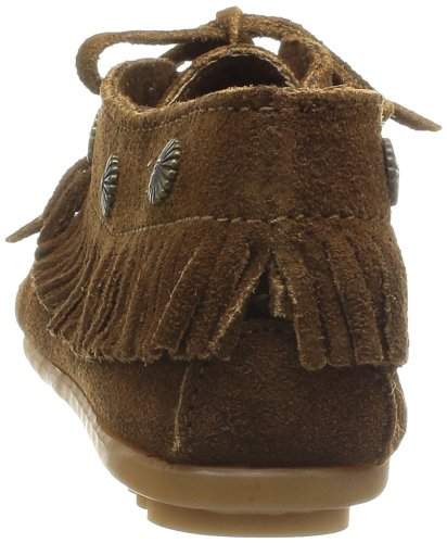 Marrón Dusty Minnetonka Moc Fringed Mocasines Brown Mujer I7nfpv6