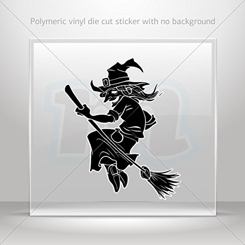 (Decals Decal Happy Halloween Witch Tablet Laptops Weatherproof Sports (10 X 8.24)