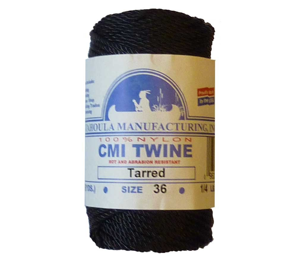 Catahoula Manufacturing #36 Tarred Twisted Nylon Twine (Bank Line) 117' Spool, 348lb Test