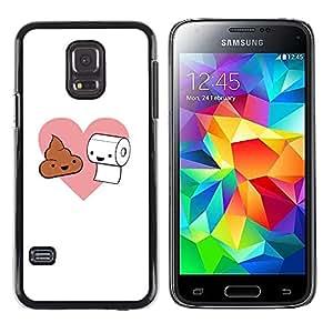 TECHCASE**Cubierta de la caja de protección la piel dura para el ** Samsung Galaxy S5 Mini, SM-G800, NOT S5 REGULAR! ** Toilet Paper Poop Pink Heart Love Romance