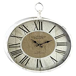 Deco 79 Metal Wall Clock, 16 by 18-Inch