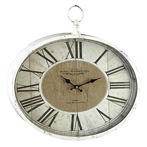 Outdoor Textured Rust Finish Clock (Deco 79 Metal Wall Clock, 16 by 18-Inch)