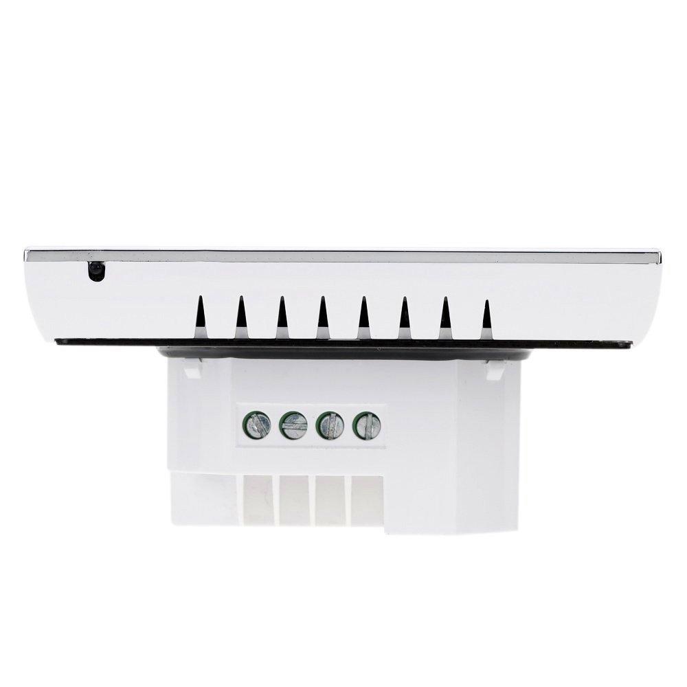 Termóstato Caldera Inalámbrico, Interruptor BECA Pantalla táctil LCD 3A Calentador de agua / gas Calentador de temperatura programable Calentador de ...