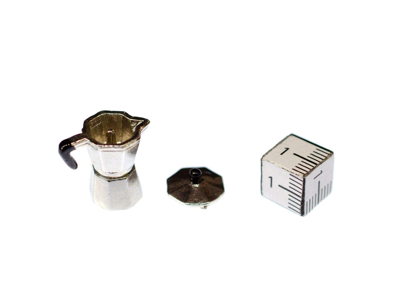 Miniblings Accessori Dollhouse Moka caffettiera a Mano Cucina delle Bambole
