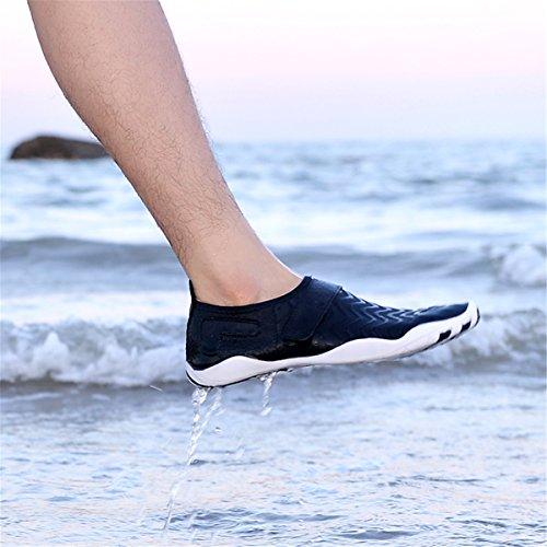 Skin Lightweight Beach gracosy Dry for Beach Womens Shoes Dive Shoes Sport Mens Yoga Pool Aqua Beach Surf Shoes Aqua Barefoot Slip on Quick Black Socks Swim Breathable Water Walk qvv1YSrw