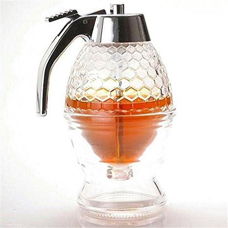 vinallo 200 ml dispensador de panal acrílico dispensador de jarabe de miel olla para salsa barcos cristal: Amazon.es: Hogar
