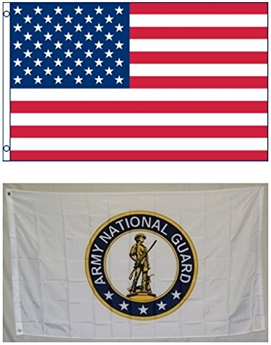 3'x5' US AMERICAN and US ARMY NATIONAL GUARD Polyester Flags